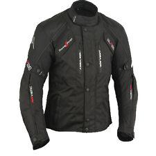 Blouson De Motard Veste moto Noir Taille L jusqu'à 5XL
