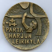 Finland Boy Scout Thematic Bronze Art Medal 70mm 245gr !!!