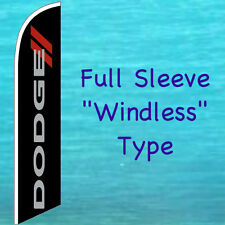 Dodge Windless Feather Flag Tall Curved Top Swooper Flutter Banner Sign