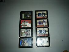 Jersey Autograph Football Cards Lot of 8 Ray Lewis Fleer Bowman Topps Gannon