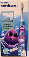 PHILIPS SONICARE FOR KIDS HX6321/02 RECHARGEABLE TOOTHBRUSH, NEW