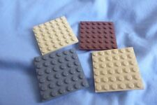 Lego Plates 6 x 6 Ref 3958 in mixed colours x 4pcs