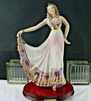 Dancer Vittorio Sabadin of Italy, Handcrafted in Capodimonte Porcelain Sculpture