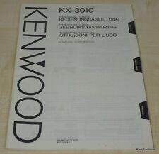 Kenwood kx-3010 MODE D'EMPLOI multilingue (également en allemand)