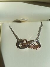 Jared the Galleria of Jewelry Love Necklace Heart Infinity Diamond Gold