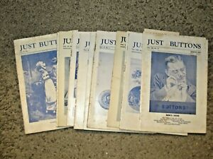 """Just Buttons"" A total of 14 magazines.  Mixed years 1948-1954"