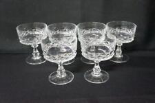 "6 Cristal D'Arques-Durand Diamond Pattern Champagne Tall Sherbet 4 1/2"""