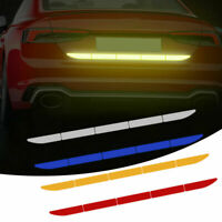 5Pcs Car Truck Reflective Warn Strip Tape Bumper Truck Safety Stickers Decals