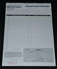 Consignmentsettlement Contract 3 Part Carbon Less 100ea Thrift Auction Store