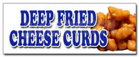 DEEP FRIED CHEESE CURDS DECAL sticker wisconsin poutine battered snack