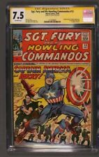 Sgt Fury #13 Captain America cover Signed Stan Lee CGC 7.5 SS 1513039002