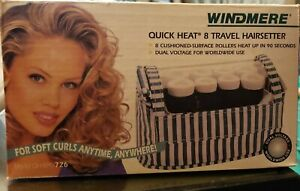 NOS WINDMERE QUICK HEAT 8 TRAVEL HAIRSETTER HOT ROLLERS DUAL VOLT OH-8PF/726