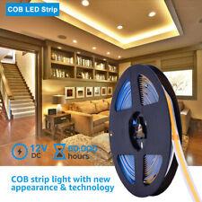 1-5m COB LED Strip Light 12V 1000LM TV Backlight PC Back Mood Bedroom Lighting