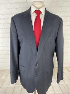Adams Row Men's Blue Striped Blazer 48L $315