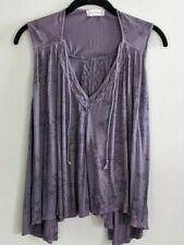 Altar'd State V Neck Sleeveless Shirt Top Open Back Womens Size L