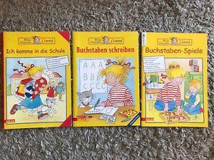 Paket 3 Conni Spiel- und Lernbucher Schulbuch Buchstaben Schule Mitmachbuch