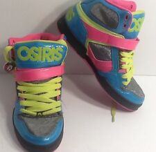 "Osiris Women's Sz 8 multi-color Shoes ""Bronx Slim Girls"" Pink Teal Green"