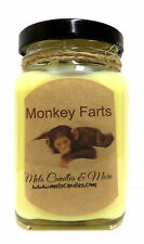 6oz Monkey Farts - Victorian Square Glass Jar Soy Candle Novelty Candle