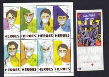 """Philippines 2020 Frontline HEROES  """" WE FIGHT FOR YOU """" 8v + S/S MNH"""