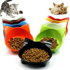 Cat Food Dish Water Bowl Cats Bowl Pet Feeder Slow Eating Cat Ears Shaped