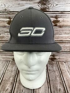 UNDER ARMOUR Boy's Snapback Flat Cap Hat SC30 Core Stephen Curry Gray Youth OSFM