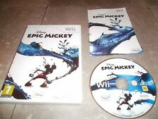 JEU NINTENDO WII Pal version française: Disney EPIC MICKEY -Complet