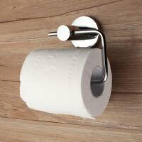 New Chrome Toilet Roll Tissue Paper Dispenser Holder Round Wall Mounted !