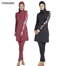 Muslim  Swimwear Lady Modesty Swimsuit Full Cover Islamic Beachwear Arab Burkini