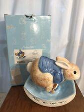 Beatrix Potter Peter Rabbit Rocking Coin Bank -Piggy Bank- Gund New