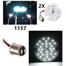 2x Harley Touring 1157 LED Daytime Turn Signal Panel Light DRL BAY15d Bulb White