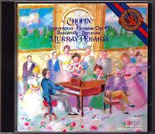 Murray Perahia: Chopin Impromptu fantaisie Barcarolle Berceuse CBS JAPAN MADE CD