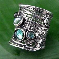 Hadar Designers Handmade 925 Sterling Silver Tourmaline Ring sz 6,7,8,9,10(H 144