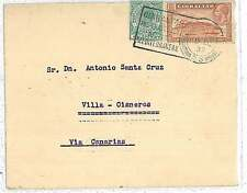GIBRALTAR: POSTAL HISTORY COVER to VILLA CISNERO - FERNARDO PO : VERY NICE! 1937
