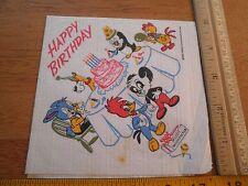 "1957 Walter Lantz birthday napkin Chilly Willy Woody Woodpecker Andy Panda 5x5"""