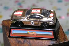 Miniature Gold Hot Wheels Model Car on Display stand fits 1:6 scale Barbie Ken