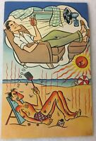 Advertising Postcard Heating & Air Conditioning Comic Aurora Il Posted 1949