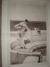Silver Favourites  Sir Lawrence Alma-Tadema 1905 print Ref L
