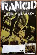 RANCID Honor Is All We Know Ltd Ed Discontinued RARE New Poster! Trouble Maker
