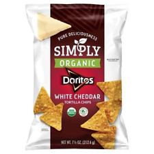 Simply Doritos Flavored Tortilla Chips, White Cheddar, 7.5 Ounce
