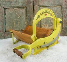 Antique RAADVAD Bread Slicer Cutter Cast- iron Cutting Slicing Machine Danish
