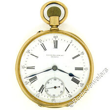 Antique 1860's Patek Philippe & Co. 18k Yellow Gold 12s Open Face Pocket Watch