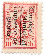 Sello Local Guerra Civil Castellon -Cat. Edifil 13.  ORD:1673