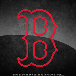 """Boston Red Sox B Logo Vinyl Decal Sticker - 4"""" and Larger Sizes Available MLB"""