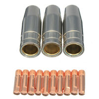 13Pcs CO2 Mig Welding Torch Aircooled MB 15AK Contact Tip Holder Gas Nozzle M5M1