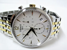 Tissot T-Classic Tradition Two-Tone Chronograph Men's Watch T0636172203700