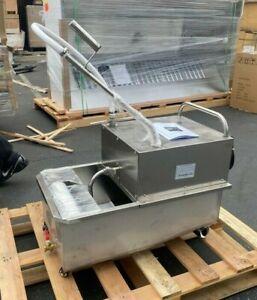 NEW Portable Fryer Oil Filter Cart Machine Commercial Filtration System 110V