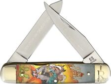 Rough Rider Moose Gene Autry Pocket Knife Stainless Steel Blade Acrylic Handle