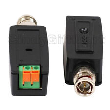 2 Pcs Passive Video Balun CCTV Camera Network Twisted Transceiver CAT5 Cable w20