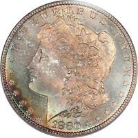 1880-S Superb Gem BU PCGS MS66 CAC Morgan Dollar - Outstanding Rainbow Toning!