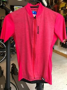 NWT Satini Scia Short Sleeve Ladies Cycling Jersey in Red Size Medium